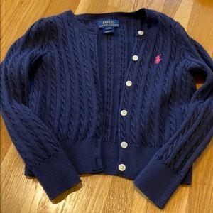 Navy, 4 T Ralph Lauren polo button down sweater